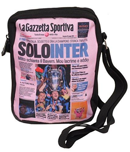 Fiori Paolo GZ203/I Citybag con cremallera y correa de hombro portada «Gazzetta dello Sport» Inter
