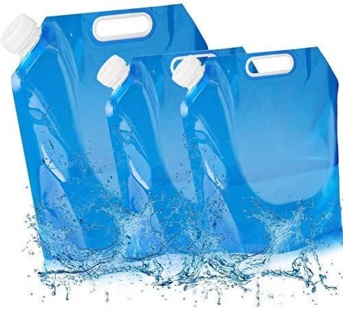 3 Pack Recipiente de Agua Plegable,5 L+5 L+ 10 L Bidón de...