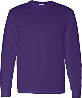 Gildan Mens 5.3 oz. Heavy Cotton Long-Sleeve T-Shirt G540 -PURPLE L