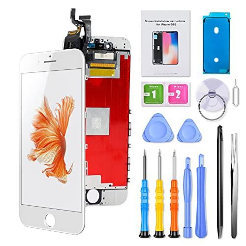 ButcHer Display-Set für iPhone 6S, Ersatz Bildschirm LCD 3D Touchscreen mit Reparaturanleitung und Komplettes Profi Ersatzbildschirm Werkzeug(4.7'',Weiß)-APN:A1633,A1688,A1700