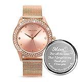 ManChDa Damenuhr, Gravierte Uhr für Frauen,...