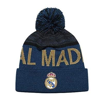 Icon Sports Boys Wrapped Team Pom Beanies UEFA Champions League Soccer Real Madrid, Alternate, OSFM