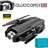 S5 RC Mini Drone Avec 4K HD Double Caméra Télécommande Pliable Hélicoptère Quadcopter 2.4G 4CH 6 Axes Avion Avec 3 Vitesse Réglable, Drone GPS Retour À La Maison