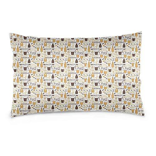YudoHong Fundas de almohada rectangulares suaves decorativas para sofá, dormitorio, coche, cerveza