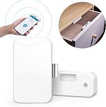 Cerradura de gabinete de archivos, cerradura de seguridad de cajón inteligente inalámbrico, sin taladro Cerraduras de gabinete de seguridad para niños invisibles sin llave para oficina en el hogar