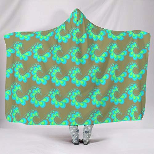 Fineiwillgo Manta con capucha y diseño de mandala con flores, muy suave y cálida, para adolescentes, sofá o sillón de salón, color blanco, 150 x 200 cm