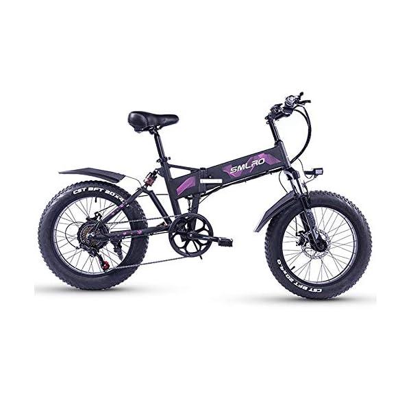 51ki8nSJ5JL. SS600  - XXCY 20 Zoll Fetter Reifen, 36V 500W Motor, faltbares Fahrrad, elektrisches Fahrrad, Mobile Lithiumbatterie Shimano 7-Gang hydraulische Scheibenbremse