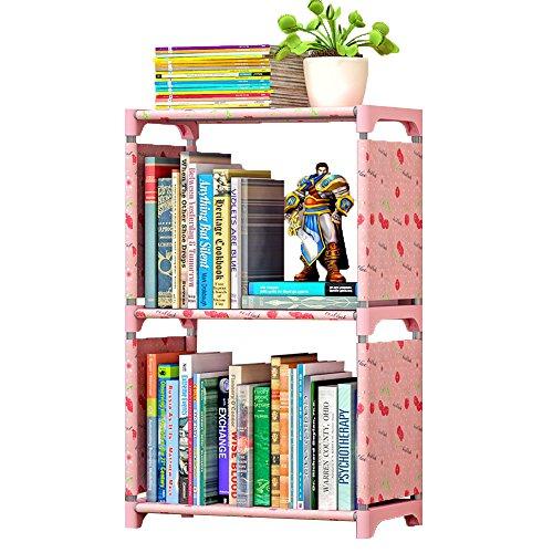 FKUO Einfache Bücherregal Bücherregal Regale kreative Kombination Regal Regal Kinder Bücherregal (glückliche Kirsche, 42 * 26 * 64cm)