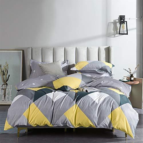 RITIOA Funda nórdica + Funda de Almohada Luxury Textile para el hogar, Juego de Cama de Tres Piezas, una Variedad de tamaños y Colores adecuados para Cama Individual o Doble.