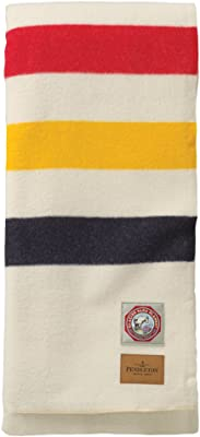 Pendleton Glacier National Park Twin Blanket, White, Twin Size