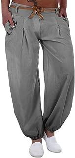 Women Plus Size Casual Long Pants Middle Waist Loose Style Sports Yoga Trouser Lounge Pants