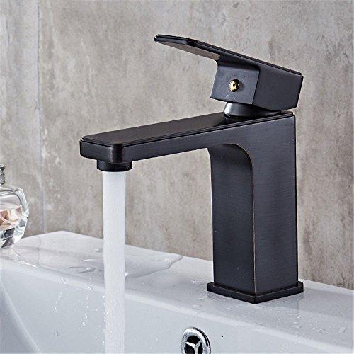 Qimeim Grifo mezclador de lavabo para baño con agua fría y caliente