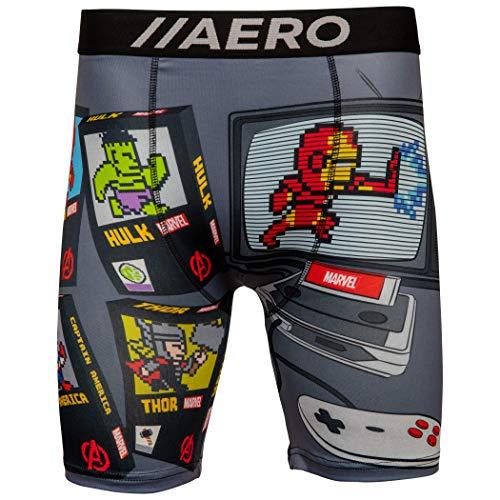 Marvel Avenger's Retro Video Game Console Men's Boxer Briefs Medium (32-34)