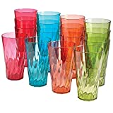 Palmetto 20-ounce Plastic Tumblers   set of 16 in 4 Assorted Colors