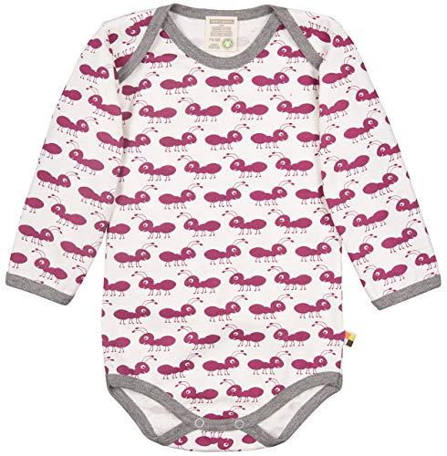 loud + proud Baby-Unisex Body Langarm aus Bio Baumwolle, GOTS Zertifiziert Spieler, Violett (Orchid or), (Herstellergröße: 74/80)