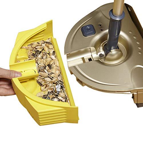 無線電気クリーナー,ほうきとちりとり2の1多機能モップを洗浄-ゴールド