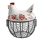XIXIAOStorage Cestini Organizer Gallina Cestino in ferro battuto cestino uovo cestino bagno camera da letto