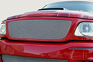 Grillcraft FOR1302S MX Series Silver Upper 1pc Mesh Grill Grille Insert for Ford F150