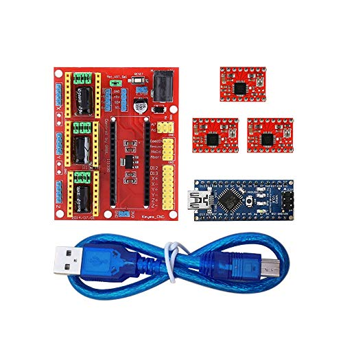Compatibele Vervangings 3D Printer Kit for Arduino CNC Shield V4 + Nano 3.0 + A4988 Driver GRBL Compatible Accessory