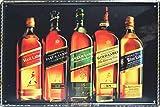 Johnnie Walker Whiskey Style Ornament Coffee Blechschilder,