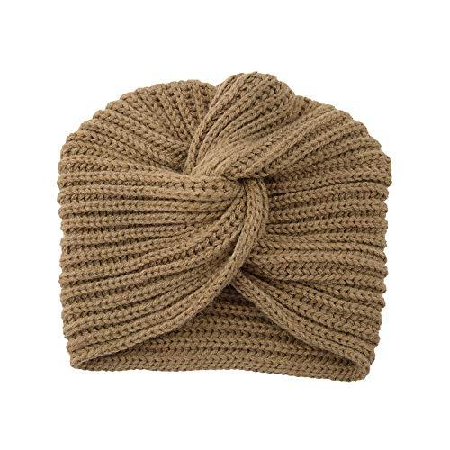 HEVÜY Damen Gestrickt Stirnband Häkelarbeit Schleife Headwrap Design Stirnband Winter Kopfband Haarband Headwrap