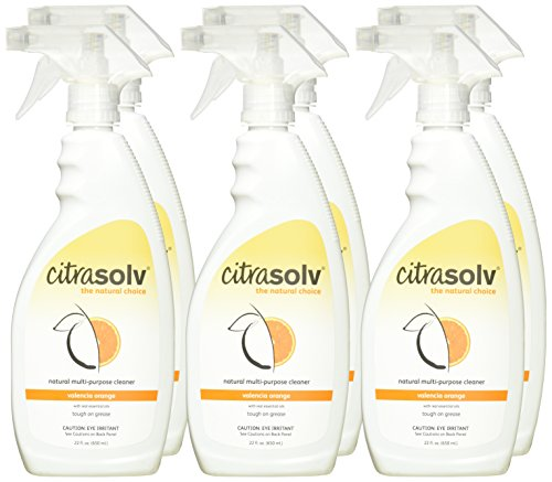 Citra Solv Natural Multi Purpose Spray Cleaner, Valencia Orange, 22 Ounce (Pack of 6)