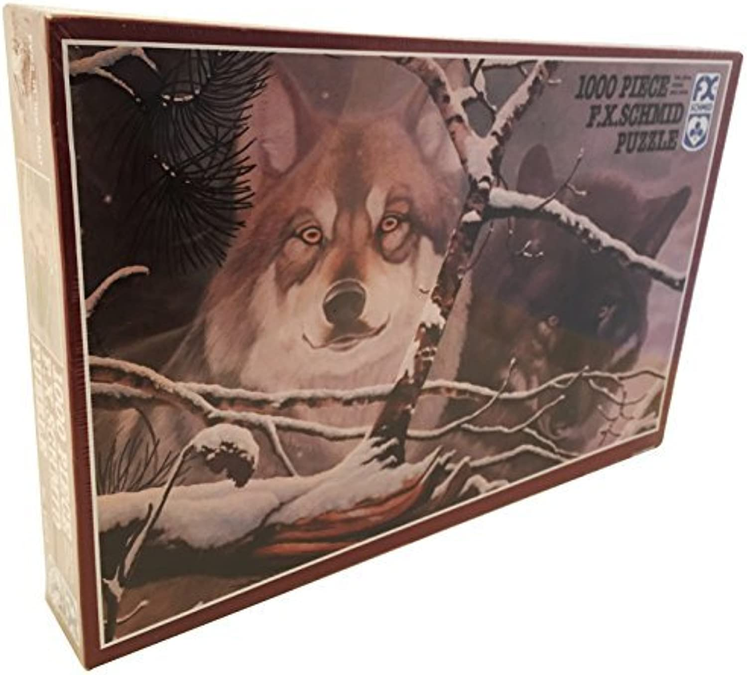 F.X. Schmid Puzzle 1000 Piece  Eyes in the Mist Wolf Puzzle by Eyes in the mist 1000 piece puzzle by F.X.Schmid