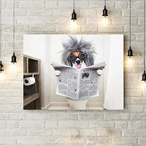 Puzzle 1000 piezas Periódico de lectura de perro en Juguetes y juegos Rompecabezas de juguete de descompresión intelectual educativo divertido juego familiar para niños adulto50x75cm(20x30inch)