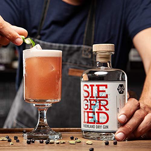 Siegfried Rheinland Dry Gin   Weltweit ausgezeichneter Premium Gin   Micro-batch Gin mit 18 Botanicals   Regionalität und Weltklasse   41% 500ML - 2