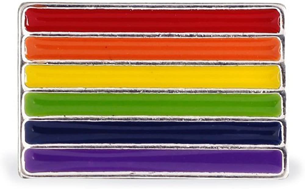 SEAL limited product Gay Pride Rainbow Rectangle Pins Fresno Mall Support Causes LGBTQ 25 -