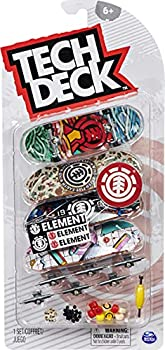 TECH DECK Ultra DLX Fingerboard 4-Pack Element Skateboards Collectible and Customizable Mini Skateboards
