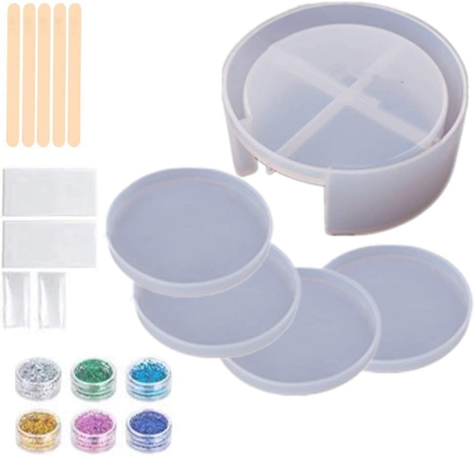 Resin Coaster Molds - Manufacturer OFFicial shop Epoxy Mold Box Storage Silic lowest price