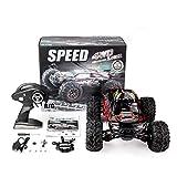 X-04 1/10 Scale 2.4Ghz 4WD High Speed RC Bigfoot Big Wheels Off-Road Rock Race Truck Eléctrico RC Coche de Control Remoto Negro