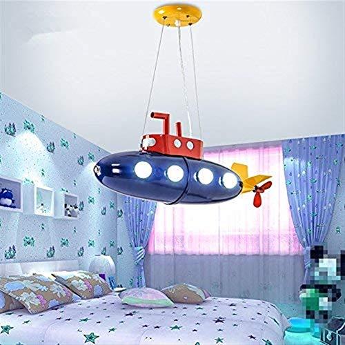 LANLANLife Lámpara De Araña De Dormitorio Llevado Niño De Dibujos Animados Araña De Guardería Submarino Creativa