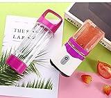 SZJY Frullatore Portatile Spremiagrumi, Mini Tazza di Succo Ricaricabile USB per Uso Domestico con 2 Bottiglie di tritan Spremiagrumi Portatile-Viola per Milkshake, Ufficio, Sport, Viaggi