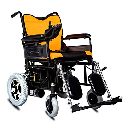 New GJNWRQCY Electric Wheelchair, Foldable Portable Care Four-Wheeled Scooter,Elderly Disabled Elect...