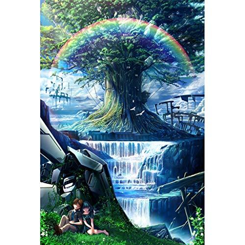 Puzzels 500 Stuks, Regenboogbomen, Houten Puzzels, Familiedecoratie, Decompressiespeelgoed Voor Kinderen, Hersenkrakers -P4.29