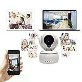 Cámara de vigilancia WiFi inalámbrica, voz bidireccional Cámara IP inalámbrica de alta definición, alarma inalámbrica Cámara de seguridad inalámbrica