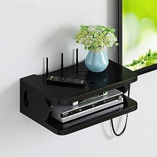 LULUDP Scatola di archiviazione Wireless Charging Montaggio Box organizzatore del Cavo Mensola Router Storage Box TV menso...