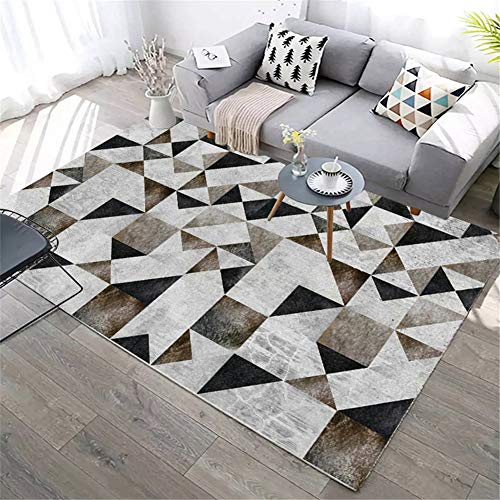alfombra de Cuero Genuino de Retazos de Cuero para Sala Cuero Natural Antideslizante, Simplicidad Moderna Personalizada