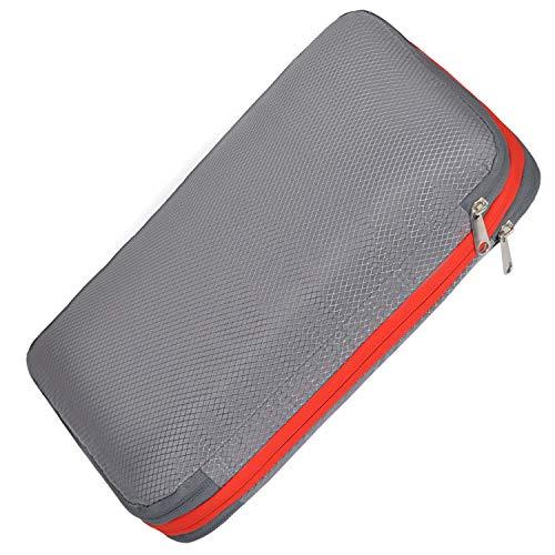 SUDOA トラベルポーチ 圧縮袋 旅行 収納ケース ファスナー圧縮で衣類スペース50%節約 軽量 出張 便利 (グ...