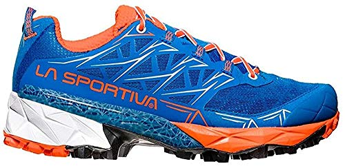 La Sportiva Akyra Woman, Zapatillas de Trail Running para Mujer, Multicolor (Marine Blue/Lily Orange 000), 37 EU