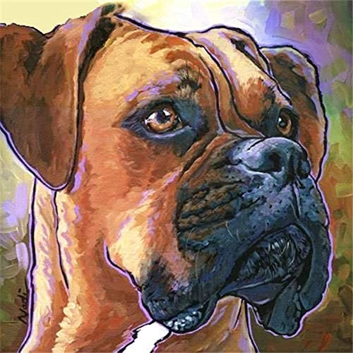 Lazodaer - Kit de pintura de diamante 5D para adultos, pintura de diamante redonda completa con diamantes para decoración del hogar, perro, 30 x 30 cm