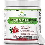 Zazzee D-Mannose Powder Plus, 67 Servings,...