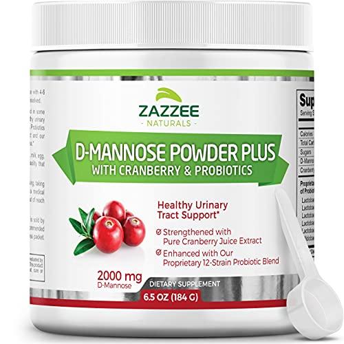 Zazzee D-Mannose Powder Plus, 67 Servings, 6.5 Ounces, Plus 5 Billion...