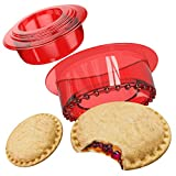 Tribe Glare Sandwich Cutter and Sealer - Uncrustables Maker - Sandwich Cutter for Kids - Sandwich Sealer and Decruster for Boys and Girls - Red