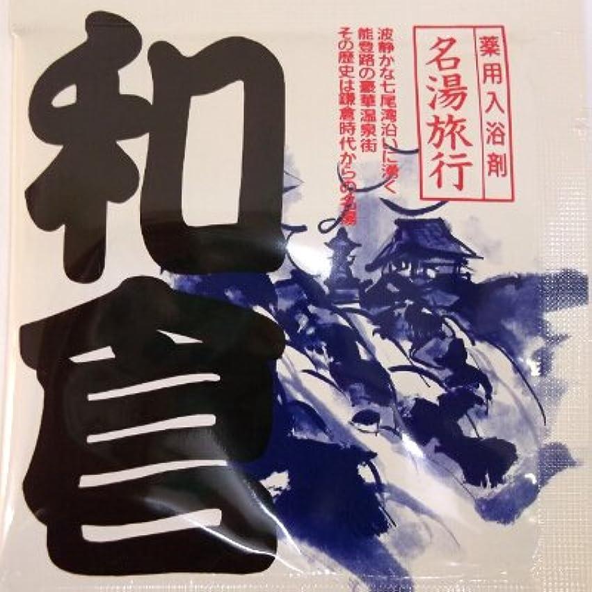 入り口ワイヤー青写真名湯旅行 和倉
