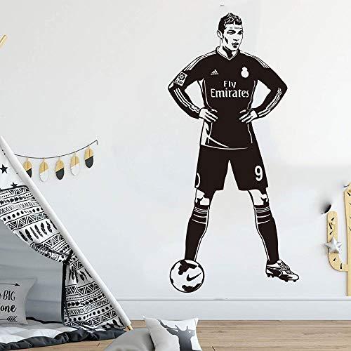 ASFGA Portugal Cristiano Ronaldo Jugador de fútbol Etiqueta de la Pared habitación Infantil jardín de Infantes Inglaterra Jugador de fútbol Etiqueta de la Pared Dormitorio Estrella de Vinilo 168x78cm