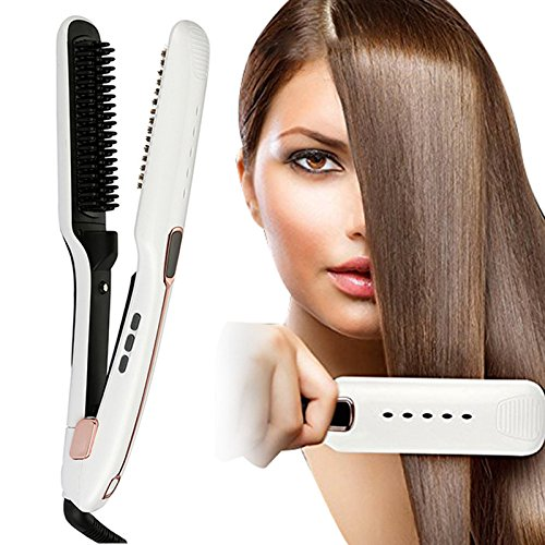 Carejoy Steam Hair Straightener Comb Infrared Hair Brush 3 in 1/Infrared/Ion Straightening Tool for Natural Healthy Silky Hair Professional Salon Personal Use