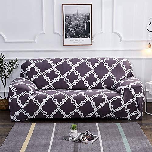 WXQY Funda de sofá elástica a Prueba de Polvo con Todo Incluido para Sala de Estar Funda de sofá de sección en L Funda de sillón Muebles Funda de sofá A19 2 plazas